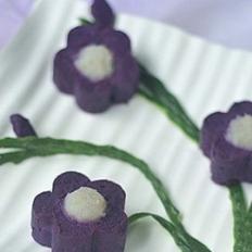 木瓜紫薯泥