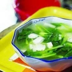 青菜豆腐蚬子汤